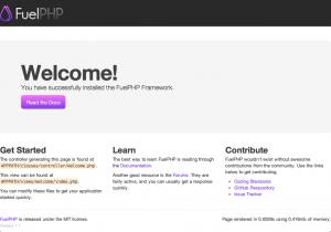 FuelPHPをはじめてみたら思った以上につまりました