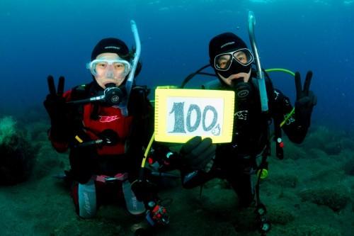 100本目の記念ダイビングは大瀬崎でマンボウ狙い vol.2
