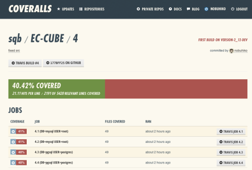 Coveralls - Code Coverage History and Statistics